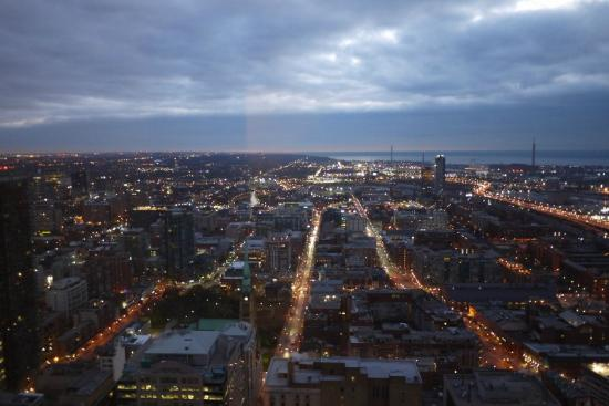 One King West Hotel & Residence: View East from the Superior Suite with View (46th floor)