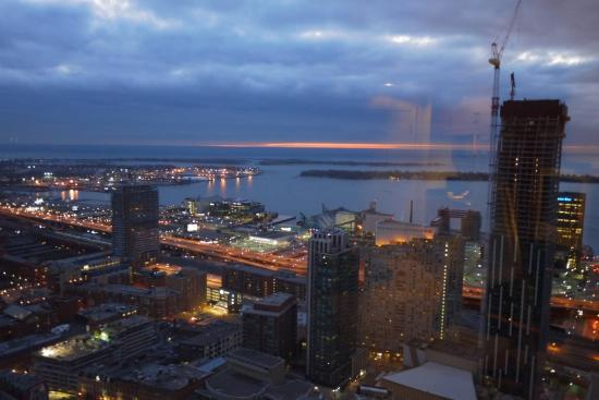 One King West Hotel & Residence: View of the lake (south east) from my room on 46th floor