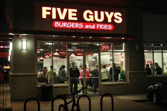 5 Guys Burgers And Fries Restaurant Picture Of Five Guys