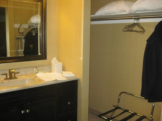 West Point Motel: Sink area