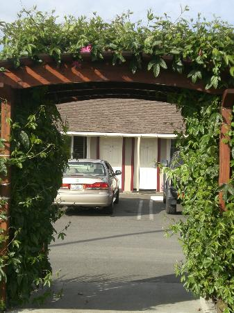 Surf Motel and Gardens: convenient parking right outside room