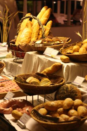 Club Med Kani: Bread selection in the Buffet restaurant