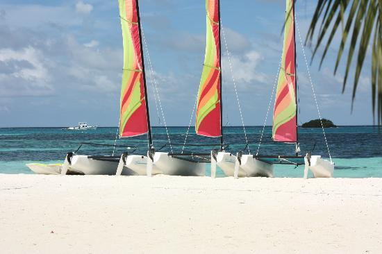 Club Med Kani: The catamarans