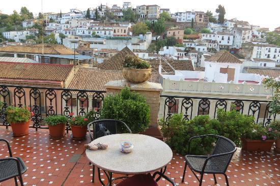 Hostal Londres: Roof Terrace with Alhambra view