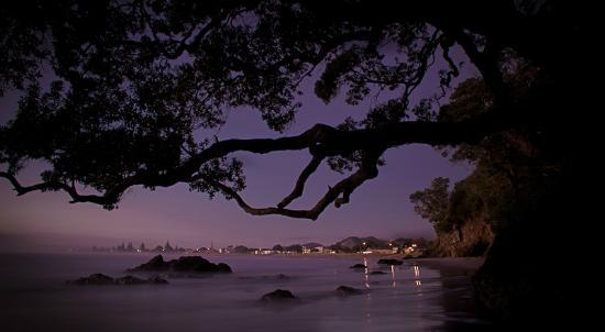 Waihi Beach, : night falls at the beach- image Mike Hill