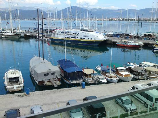 Alesta Yacht Hotel: Fethiye harbour from room 309