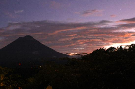 The Springs Resort and Spa at Arenal: This picture was taken from our bed!!!