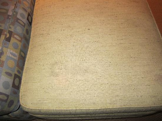 Crystal Lodge Hotel: Noticeable stain on the ottoman