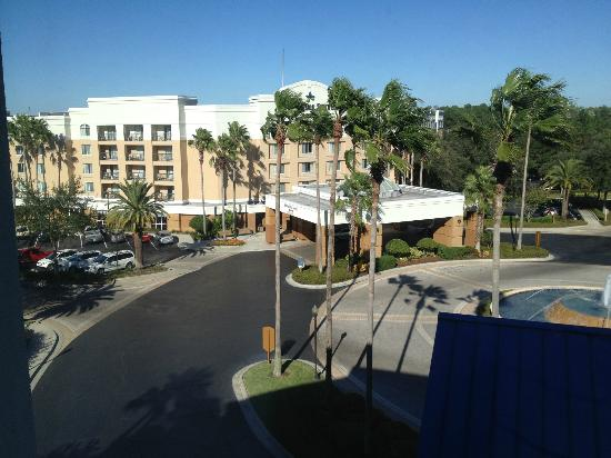 Fairfield Inn Orlando Lake Buena Vista in the Marriott Village: Taken from room