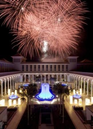Gran Melia Palacio de Isora Resort & Spa: looking over to the fireworks