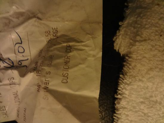 Chesterfield Hotel: Five month old credit card slip under the mattress among other trash