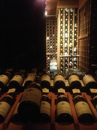 Grand Cascades Lodge: One of the many bottles of wine!