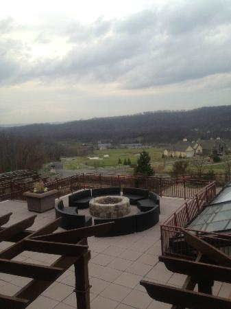 Grand Cascades Lodge: One of the fire pits