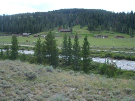 Nine Quarter Circle Ranch: View of the ranch from a ride