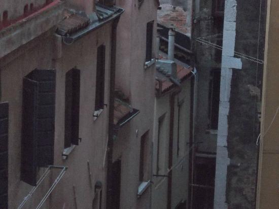 Hotel Orion: view from window to small alley (back of hotel)