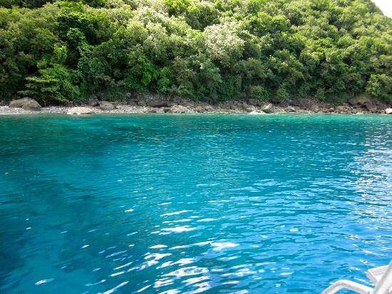 Ti Kaye Resort & Spa: Waters we snorkeled in