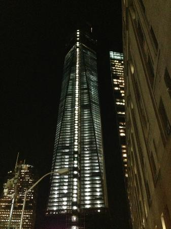 W New York - Downtown: The view of One World Trade at Night