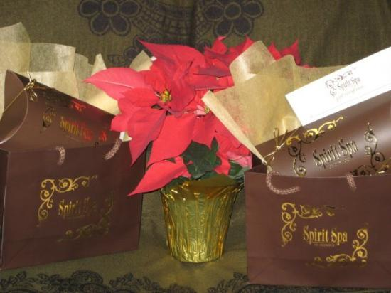 Oldwick, NJ: Consider giving the gift of pampering with a Spirit Spa gift certificate or a Holiday basket fil