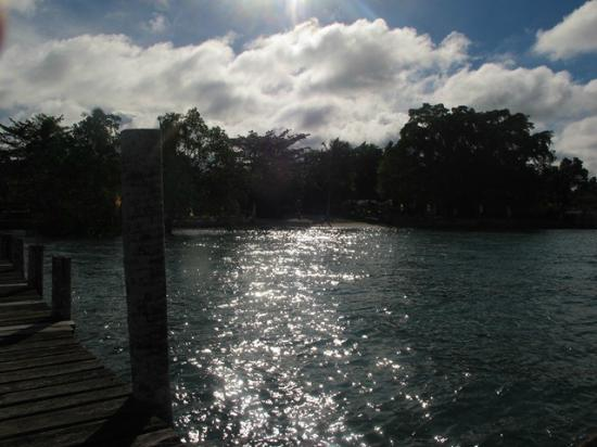Precious Garden Samal: sun reflects on the water