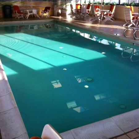 Ramada on the Beach: this pool water was clear as a whistle &amp; that&#39;s a plus for an indoor pool