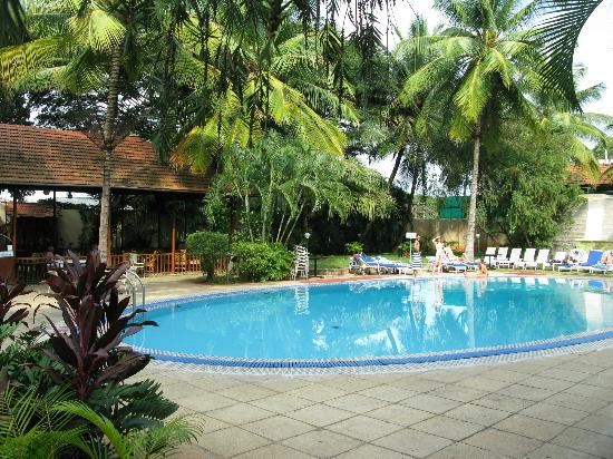 View from the pool area picture of hotel regaalis Resorts in mysore with swimming pool