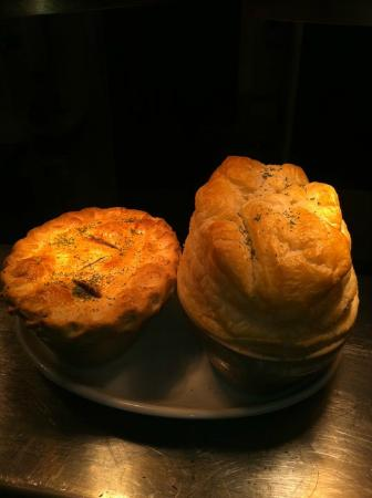 Deddington, UK: Steak &amp; Kidney, shortcrust pasty and Chicken Ham and leek encased in puff pastry