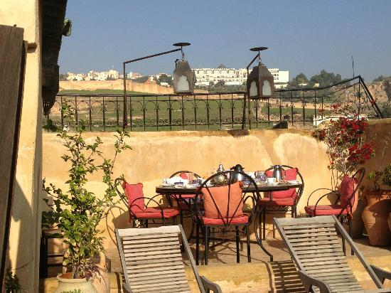 Dar El Hana: View From Terrace at breakfast