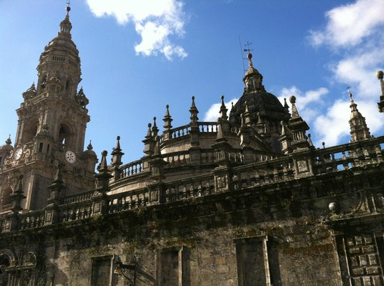 Santiago de Compostela, Hiszpania: The cathedral in Santiago de Compostale