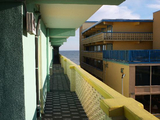 Beach Club at Montego Inn: When entering your room, you get a nice view of the ugly motel beside of Montego Inn