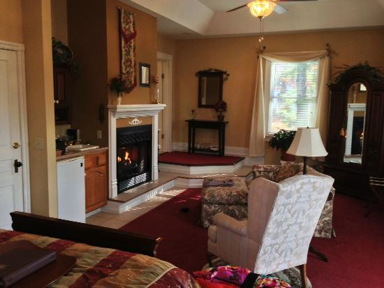 Andon-Reid Inn Bed and Breakfast: Fireplace and Sitting Area in White Sulphur Suite