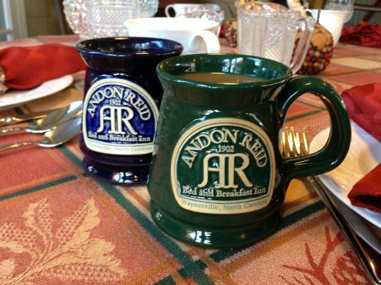 ‪‪Andon-Reid Inn Bed and Breakfast‬: Coffee Mugs