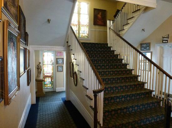 The 1927 Lake Lure Inn and Spa: Stairs and Stained Glass Windows