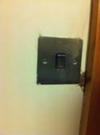 Treacys Hotel Waterford: Brown substance on light switch 1