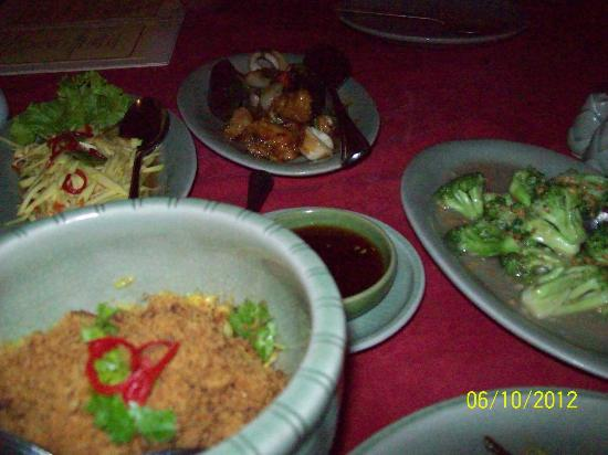 The Media Hotel And Towers: One of the Thai Menus
