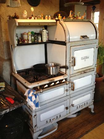 Chilmark, MA: The Duck Inn's magnificent vintage gas oven and range, from which Elyse produces the best breakf