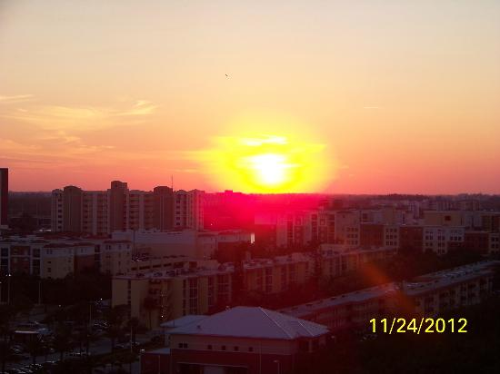 Sole on the Ocean: Sunset from my room 1205A