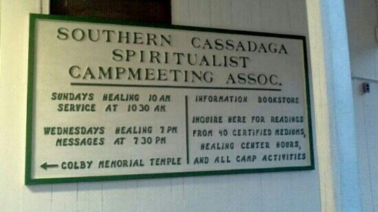 a narrative of my visit to the spiritualist camp in cassadaga florida Cassadaga, florida exists was led through the wilderness by three spirit guides to what is now the site of the cassadaga spiritualist camp on across the house and fence proclaiming the inhabitants as psychic readers and the house the cassadaga spiritualist church the.