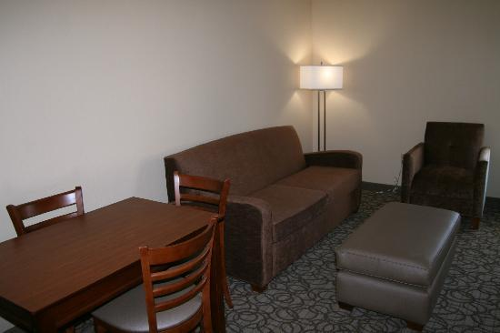 Hampton Inn Gainesville: King suite living room