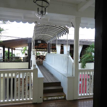 Club Comanche: the bridge to the dining/bar area. Pool is on the other side of there and then you walk to the o