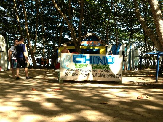 Swell Surf Camp: Chino Surf School - where we pick up our boards before surfing