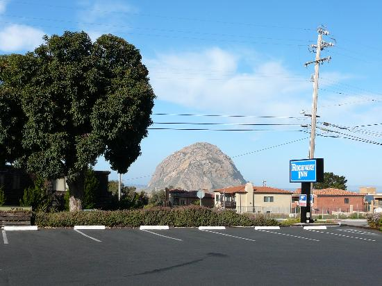 Morro Bay Sandpiper Inn: Morro Rock, seen when Sandpiper was titled Rodeway Inn.