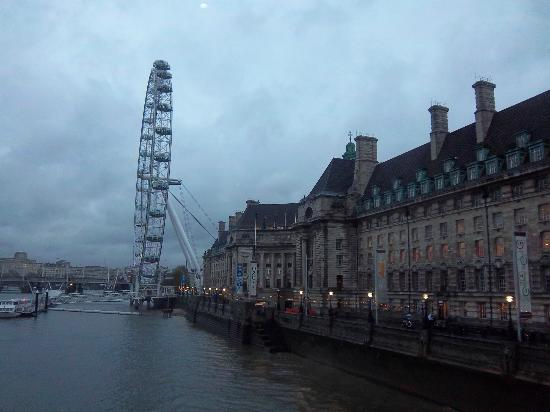 Marriott London County Hall: View of hotel from Westminster Bridge