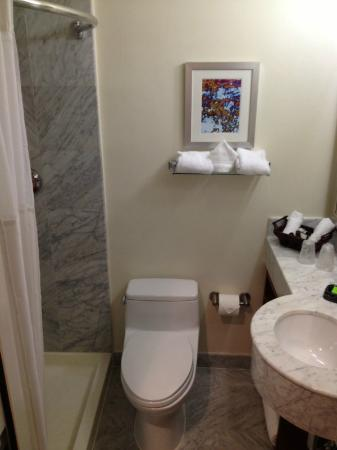 Hotel 373: Bathroom, big enough to be comfy