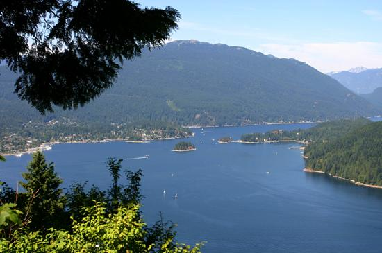 Take in the view atop Burnaby Mountain.
