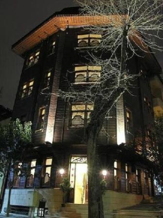 Emine Sultan Hotel: View from outside at night