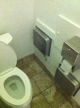 Hollywood International Hostel: Strange toilet design