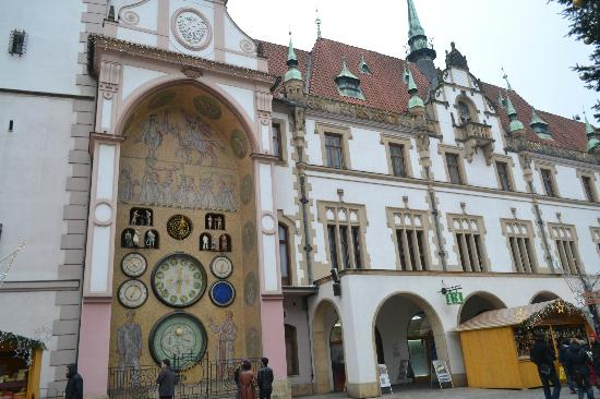 Olomouc, สาธารณรัฐเช็ก: Exterior of the part of the building with Clock