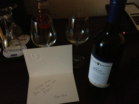 Coast Coal Harbour Hotel: A lovely gift from the front desk on our final night