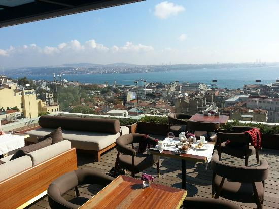 Breakfast on our terrace picture of georges hotel galata for What is a hotel terrace