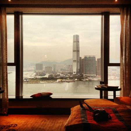 Four Seasons Hotel Hong Kong: View from our room at 40th floor.